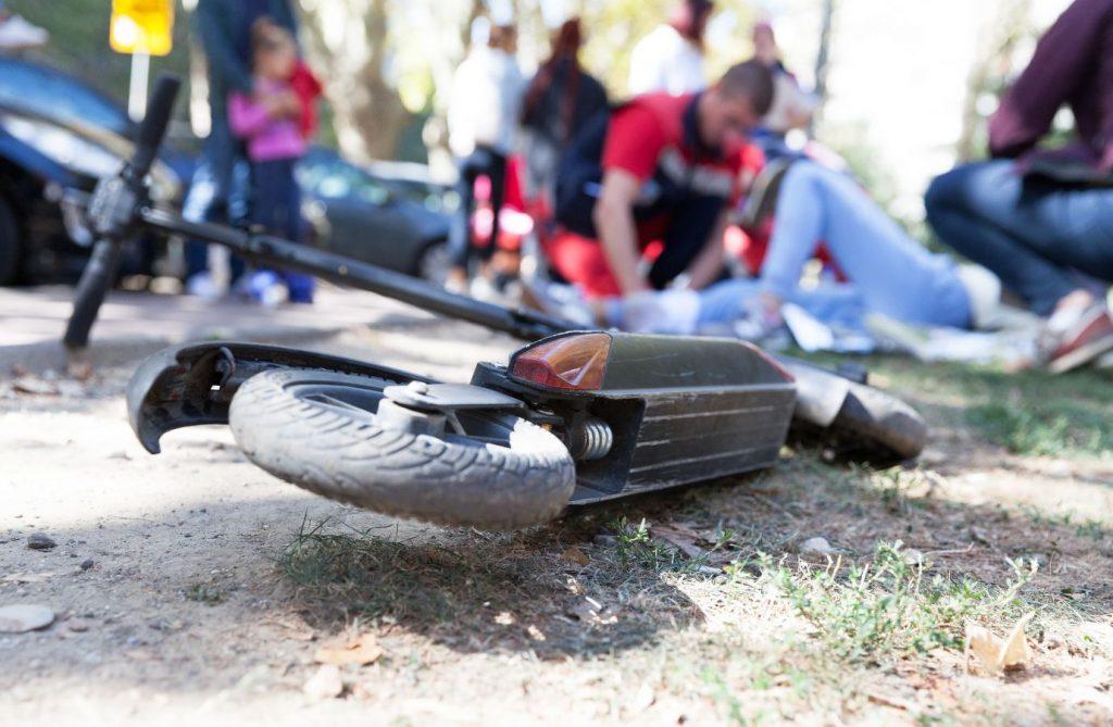 accidente en patinete eléctrico